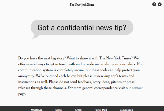 Tips The New York Times
