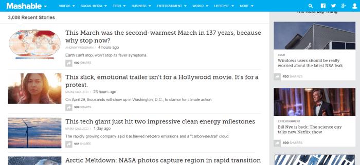 Mashable Climate