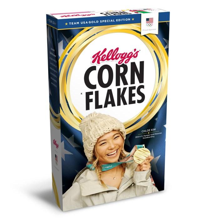 Chloe Kim on Kellogg's Corn Flakes Box