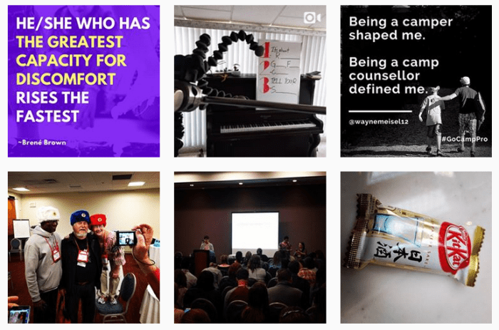 Sample of 6 posts from @gocamppro on Instagram