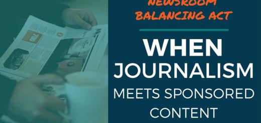 Newsroom Balancing Act - When Journalism Meets Sponsored Content