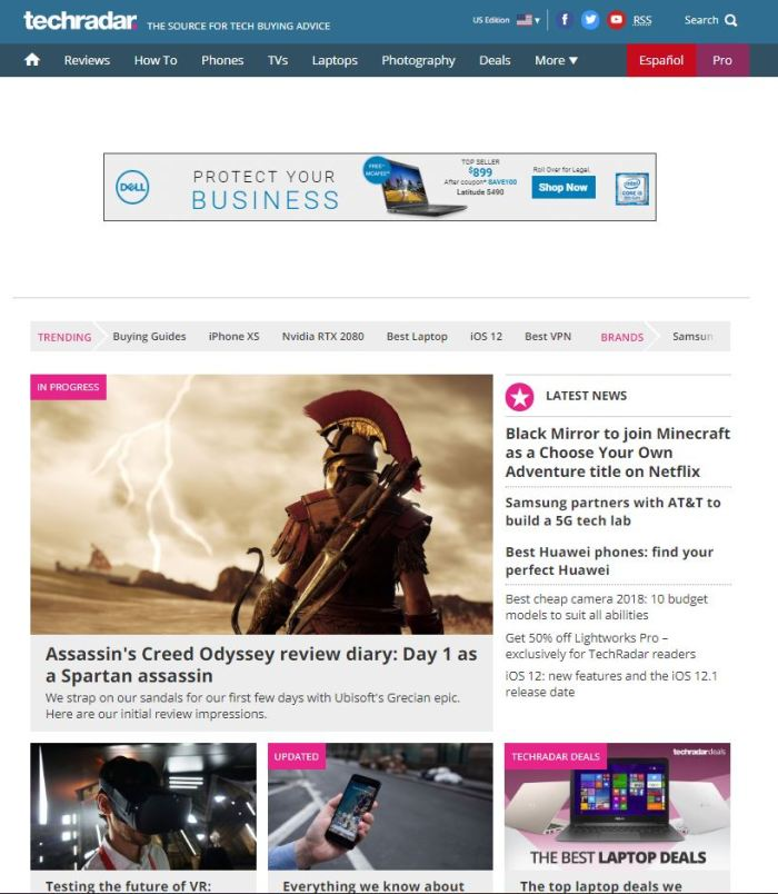 techradar.com homepage