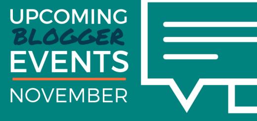 Upcoming Blogger Events: November 2018