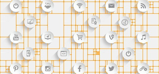 Web of Social Media Icons
