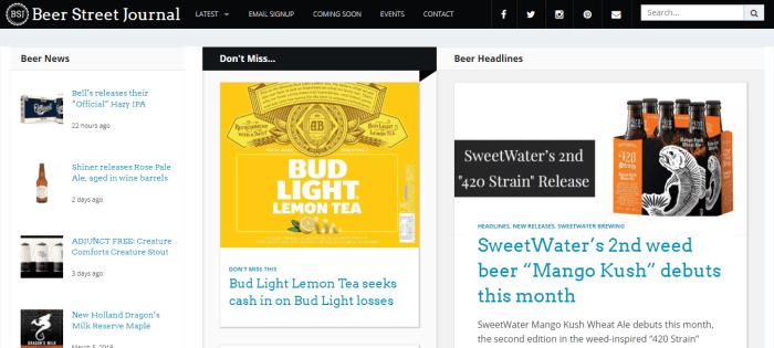 Beer Street Journal homepage
