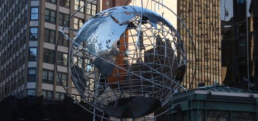 Time Warner CNN New York City - globe sculpture