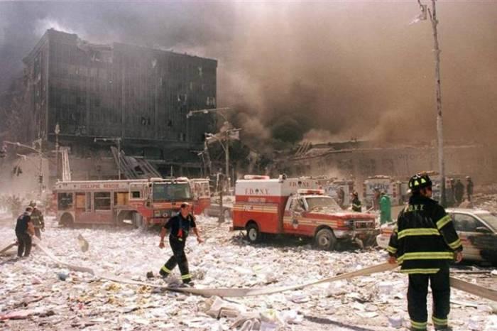 First responders at World Trade Center ground zero