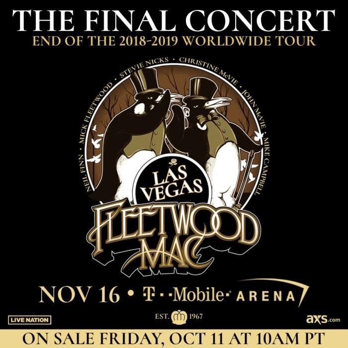 Live Nation Fleetwood Mac The Final Concert Nov 16 Las Vegas