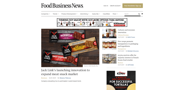 Top Food News Sites - Food Business News homepage