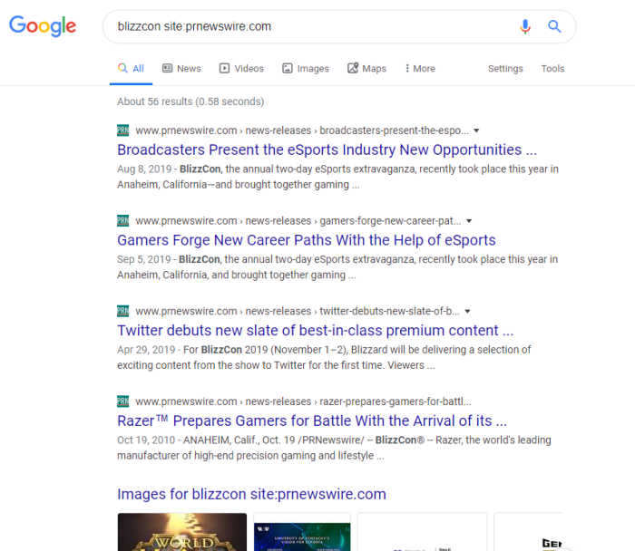 Google-fu-tips-screenshot | Narrow down your search to a specific domain