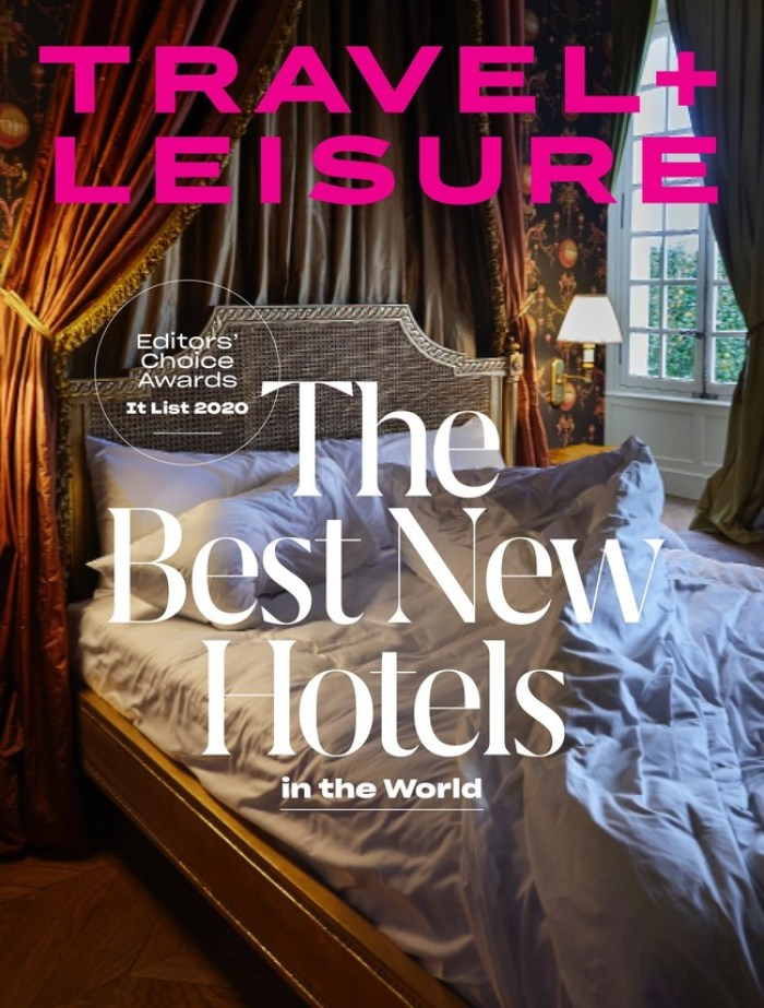 Travel + Leisure 2020 It List, The Best New Hotels in the World magazine cover