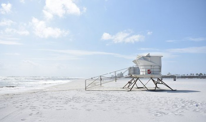 Lifeguard tower at the beach