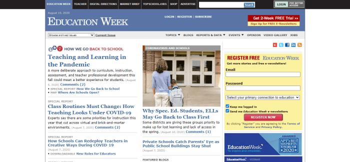 Top Education News Sites - Education Week