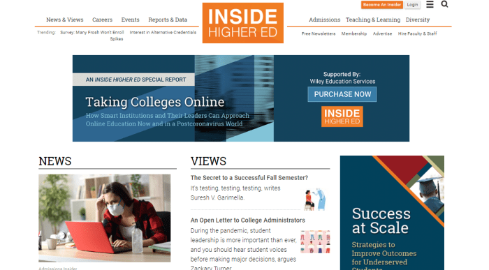 Top Education News Sites - Inside Higher Ed