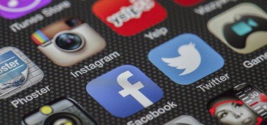 a variety of social media logos