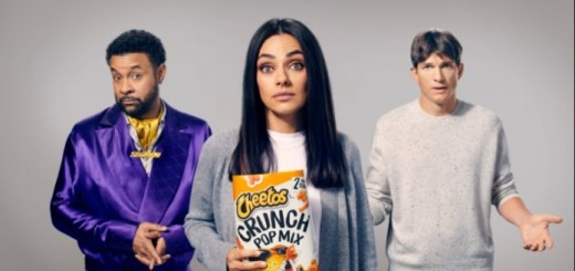 Cheetos Crunch Pop Mix Super Bowl commercial with Shaggy, Mila Kunis, Ashton Kutcher