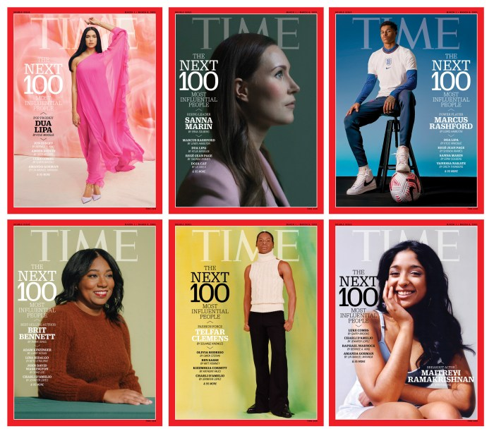 TIME100 Next List magazine covers