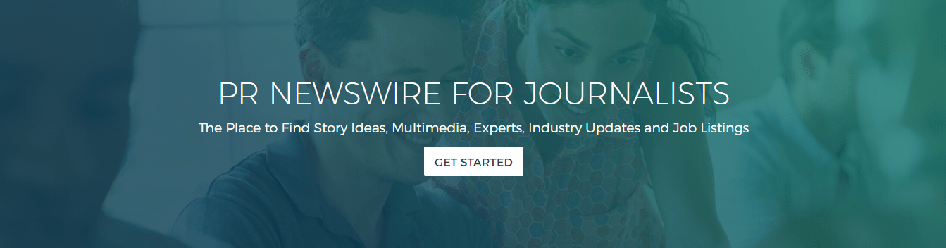 PR Newswire for Journalists - sign-up