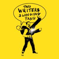 Two Writers Slinging Yang podcast logo