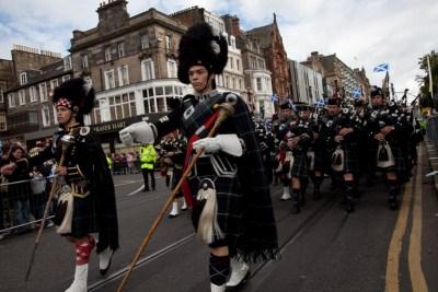 Desfile em Edinburgh - Escócia