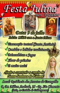 Convite para festa junina CAPA