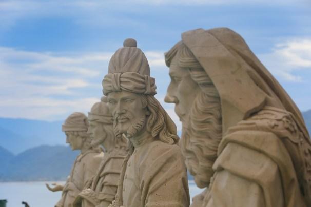 Réplica dos Profetas de Aleijadinho - Residência dos Arautos do Evangelho em Lumen Maris - Ubatuba Litoral de São Paulo