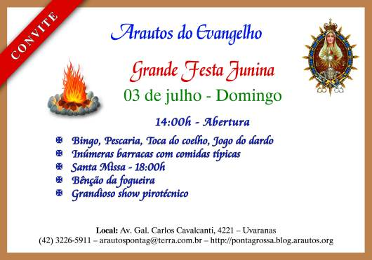 Convite Festa Julina 2