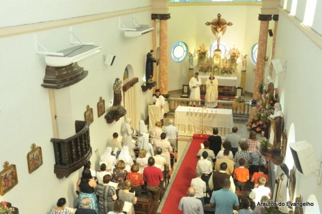 Missa na festa de Sant'Ana na capela do Real Hospital Português em Recife