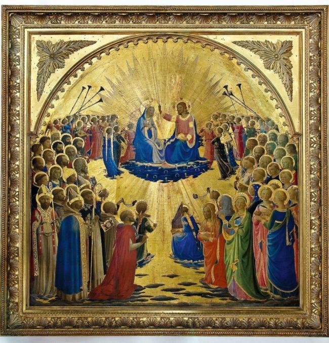 Coronation of the Virgin -Fra Angelico- Galleria degli uffuzi - firenze, Italy