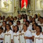 Fiéis fazem a Consagração a Nossa Senhora na Paróquia Nossa Senhora da Apresentação (Escada - PE)