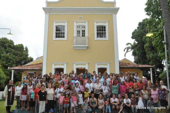 Grupo visita o Presépio dos Arautos do Evangelho em Recife