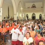 Missa de encerramento da igreja matriz de São José