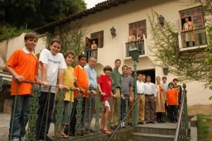 Jovens arautos capixabas no Rio de Janeiro