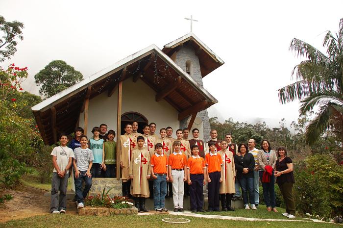 Viagem realizada pelos Arautos por ocasião da solenidade de Corpus Christi