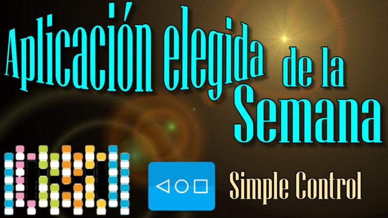 La aplicaciones Elegida de la semana miércoles, 16 de noviembre de 2016 Control simple (barra de navegación)