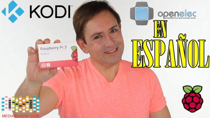 Raspberry Pi 3 OpenElec centro de entretenimiento Kodi