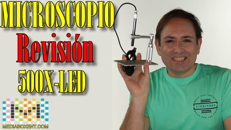 Revisión Andonstar 500X 8-LED Microscopio Digital Pen Endoscopio