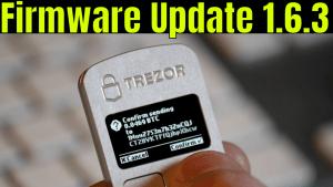 Trezor one firmware update 1.6.3
