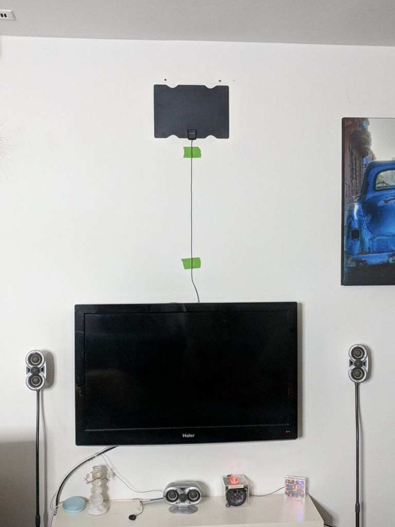 TV Antenna 80 Miles Range, Support 4K 1080P, All Older TV's for Indoor  Amplified Digital TV