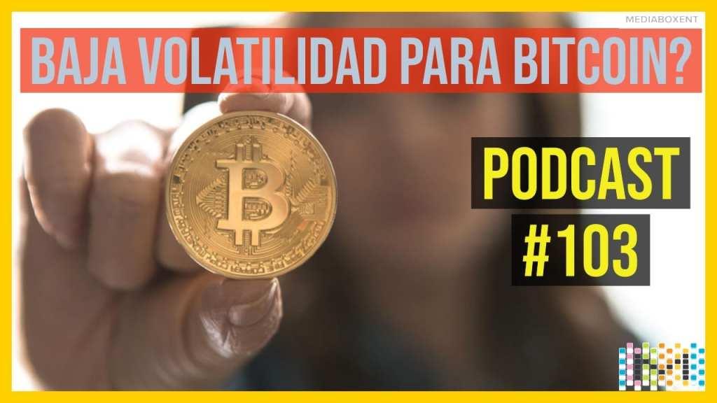 baja volatilidad para Bitcoin?