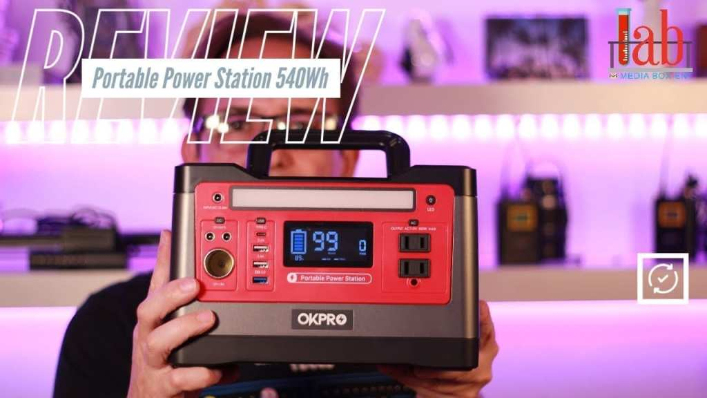 OKPRO Backup Power Supply Portable Power Station 540Wh