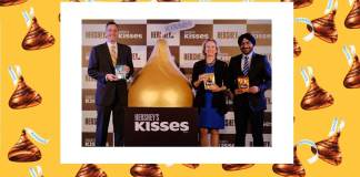 featured-image-Steven Schiller, President, International, The Hershey Company, Michele Buck, President and CEO, The Hershey Company and Herjit Bhalla, MD, Hershey India at the launch of Hershey's Kisses