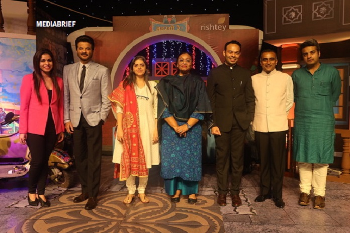 Navrangi Re! launches 2 Feb on Rishtey. At the launch event: (L-R) Sonia Huria, Anil Kapoor, Nina Elavia Jaipuria, Madhu Krishna, Ankur Garg, Sudhanshu Vats and Anshul Ailawadi