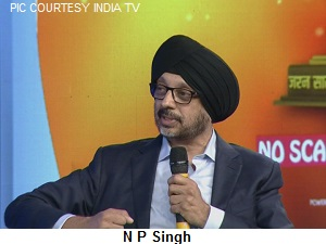 IMAGE NP SINGH AT INDIA TV CONCLAVE