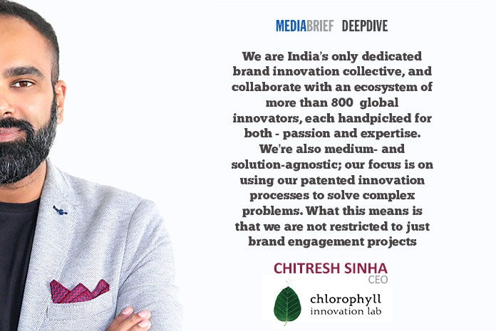 image-Chitresh blurb-1-Chitresh-Sinha-CEO-chlorophyll-innovation-lab-on-Innovation-On-Tap-MediaBrief
