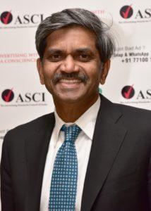 D Sivakumar - Chairman ASCI - MediaBrief