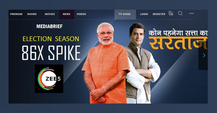 38x spike in ZEE5 viewership numbers this election season 1