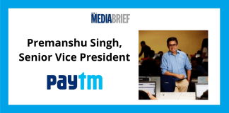 image-Paytm appoints Premanshu Singh as Senior Vice President Mediabrief