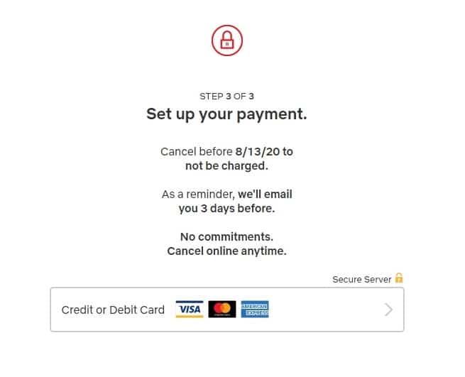 Metode pembayaran Netflix