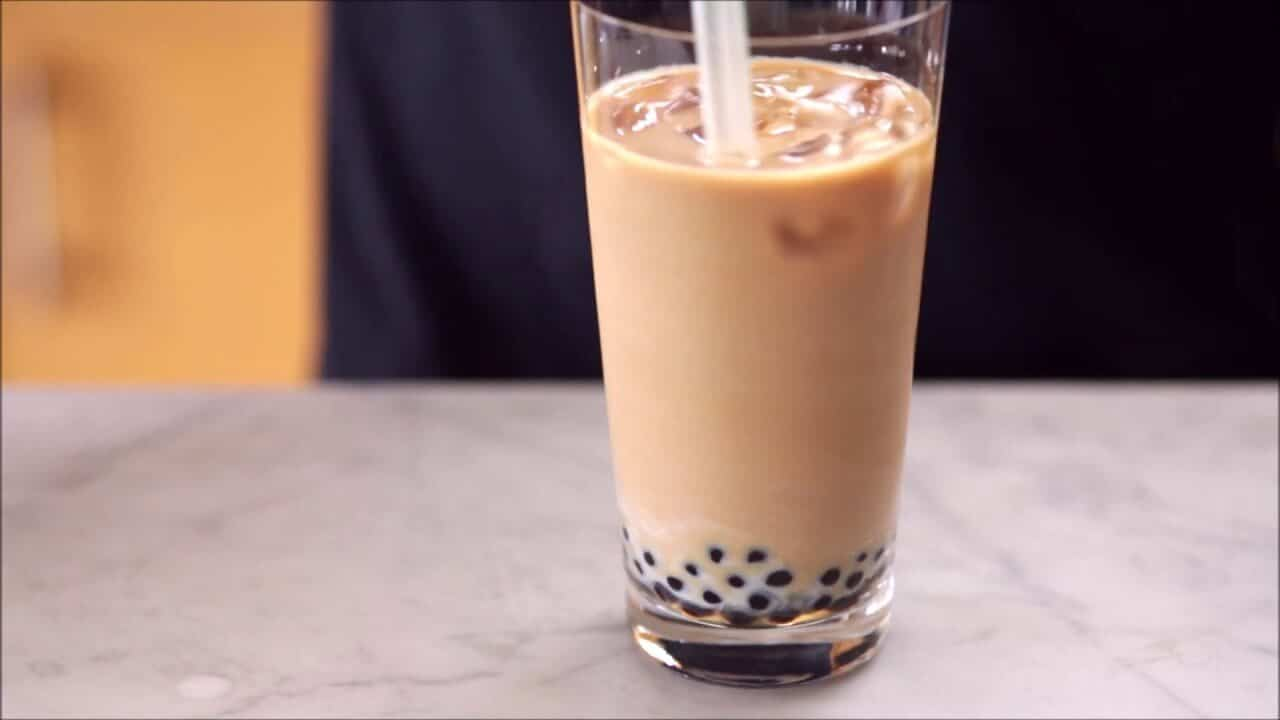 Minuman Kekinian Ice Coffe Milk Boba